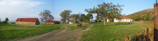 Il campo di battaglia nel 2008. Gli edifici non hanno conservato la disposizione originale