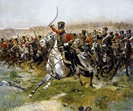 La carica degli ussari francesi nella battaglia di Friedland del 1807, Édouard Detaille, 1891